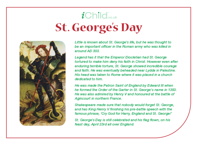 Thumbnail image for the St. George's Day Religious Festival Story activity.