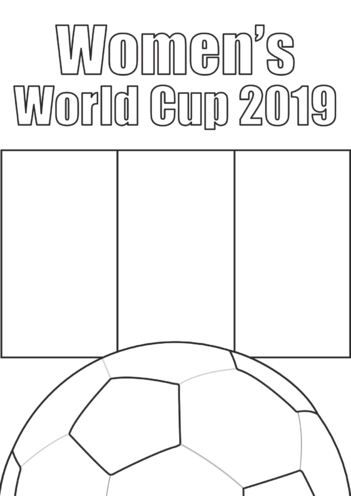 Thumbnail image for the Women's World Cup 2019 Poster activity.