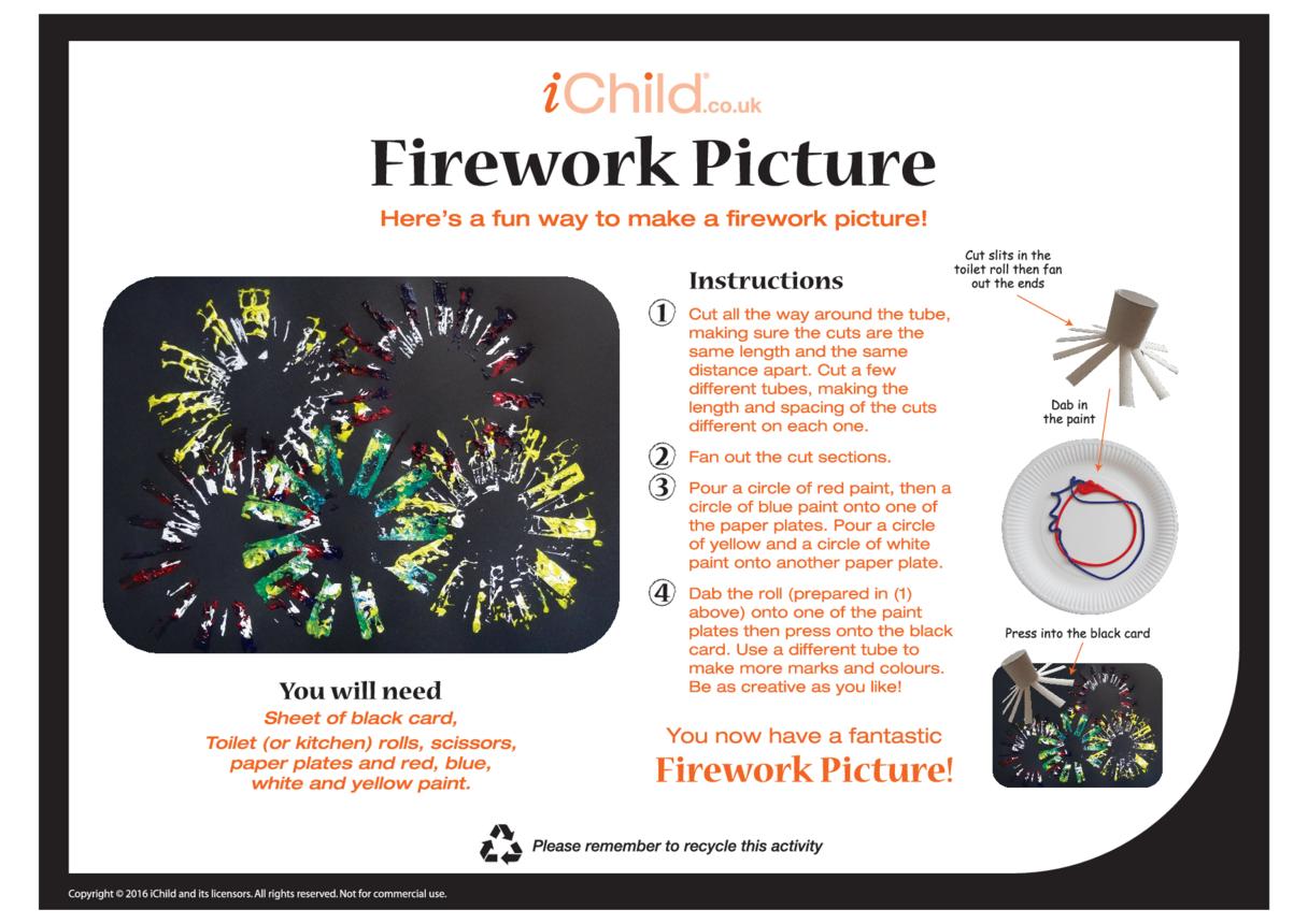 Firework Picture Craft