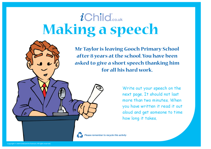 Thumbnail image for the Making a Speech activity.