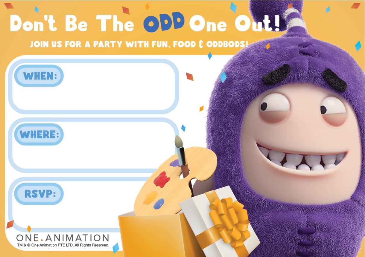 Party Invites Jeff Oddbods