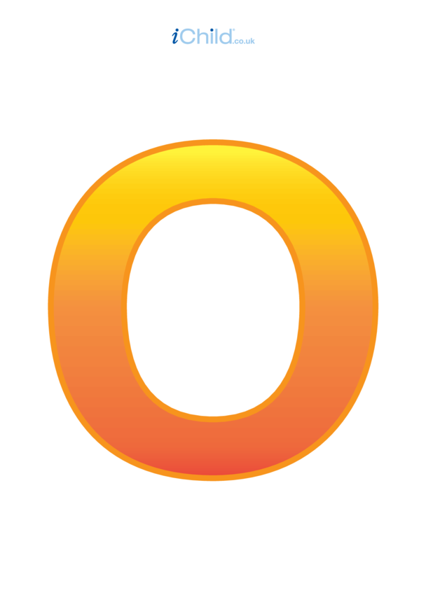 O: Poster of the Letter 'O'