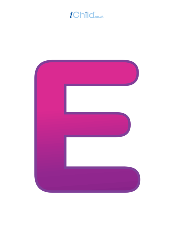 Poster of the Letter 'E'