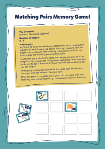 Thumbnail image for the Earls Court Activity: Matching Pairs Memory Game activity.