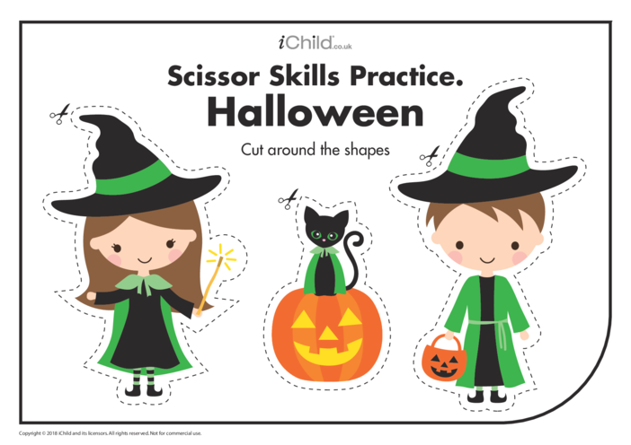 Thumbnail image for the Scissor Skills Practice: Halloween activity.