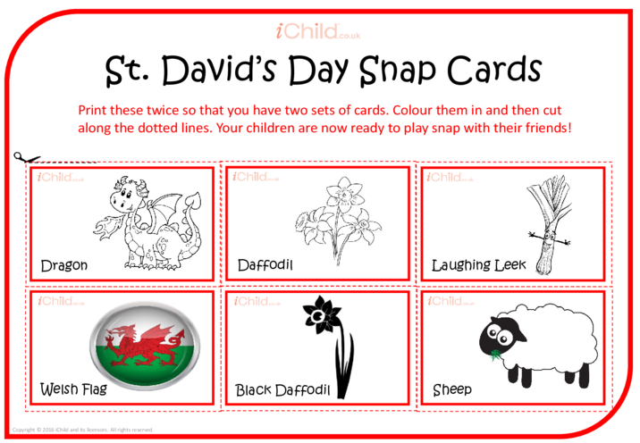Thumbnail image for the St. David's Day Snap Cards activity.