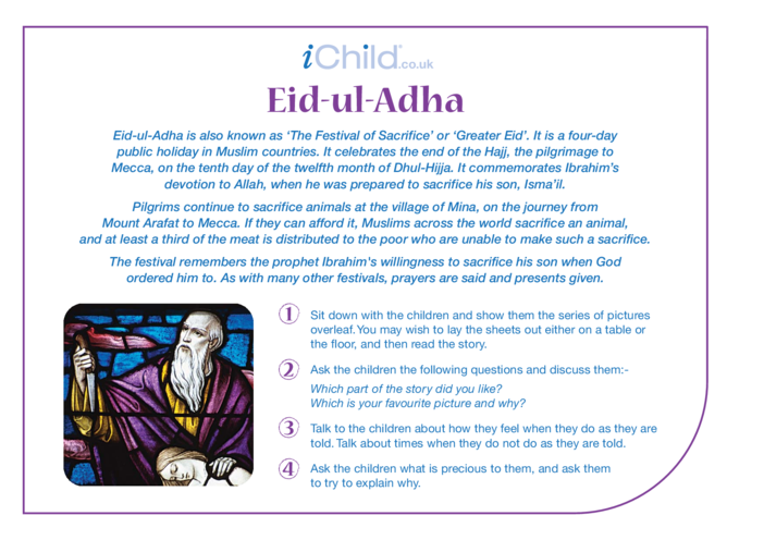 Thumbnail image for the Eid al-Adha Religious Festival Story activity.