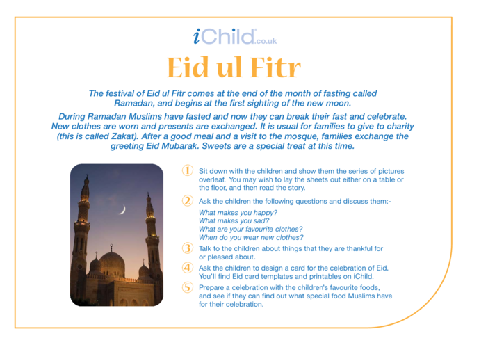 Thumbnail image for the Eid al-Fitr Religious Festival Story activity.