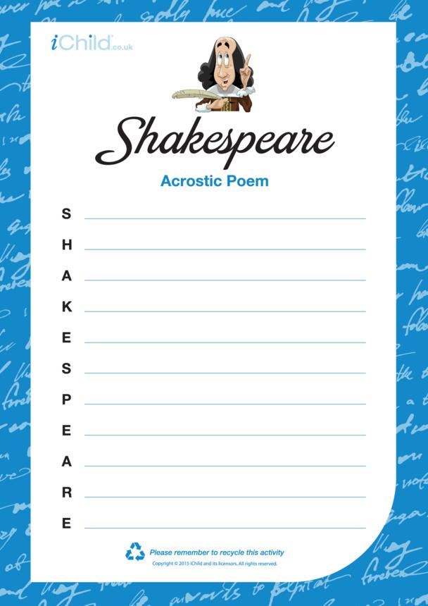 Shakespeare Acrostic Poem