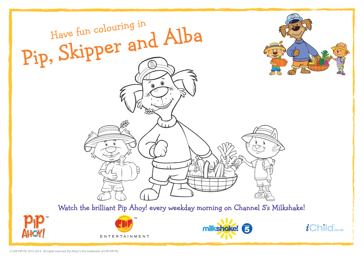 Pip Ahoy! Harvest Festival Colouring in picture (Pip Ahoy!)