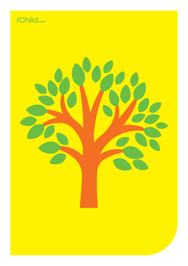 Contrasting Colours Poster: Tree