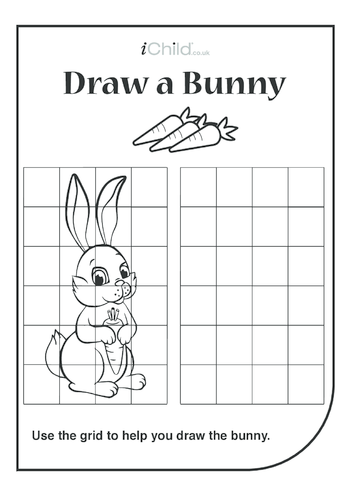 Thumbnail image for the Bunny Drawing Template activity.