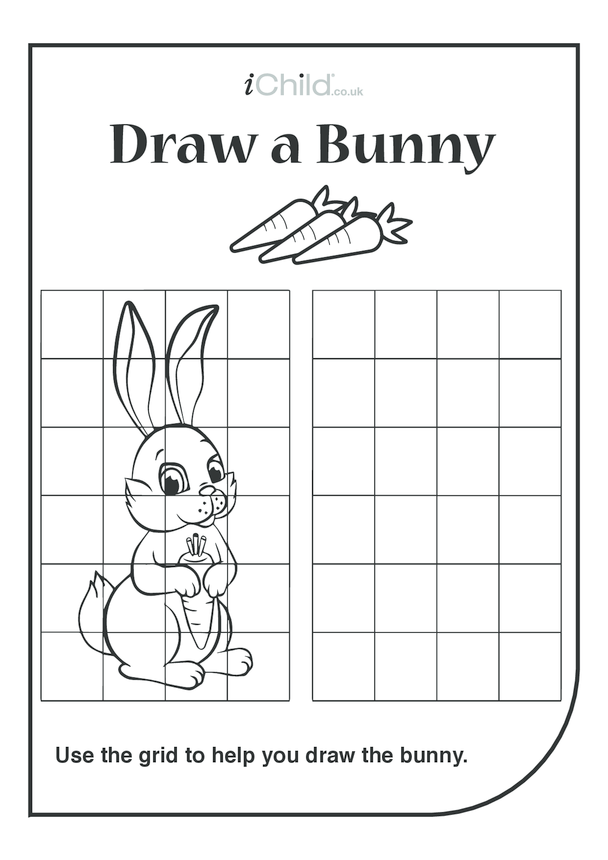 Bunny Drawing Template