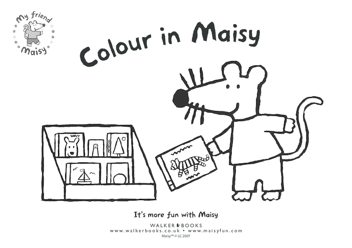 Thumbnail image for the Maisy Colouring in Picture- Books activity.