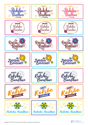 Thumbnail image for the Raksha Bandhan Large Sticker Sheet activity.