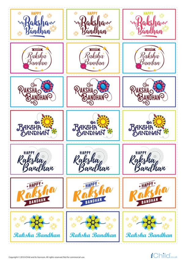 Raksha Bandhan Large Sticker Sheet