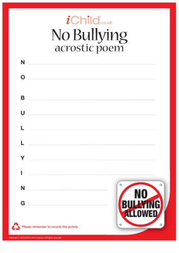 Thumbnail image for the Anti-Bullying Acrostic Poem activity.