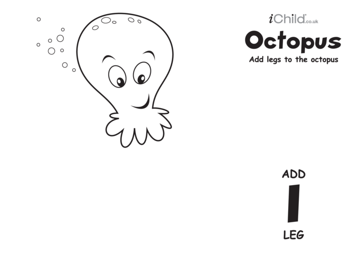 Thumbnail image for the Play Dough Counting Mats: Octopus (black & white) activity.