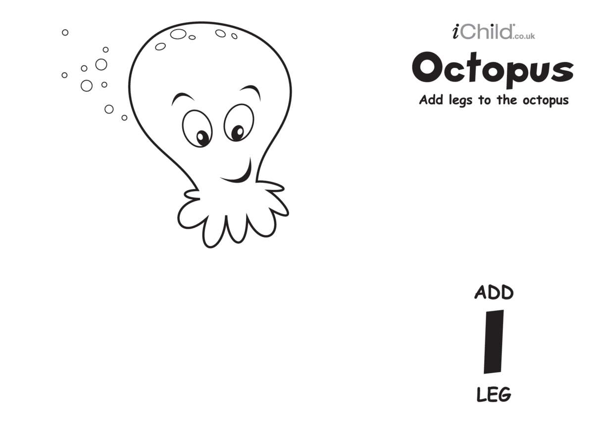 Play Dough Counting Mats: Octopus (black & white)
