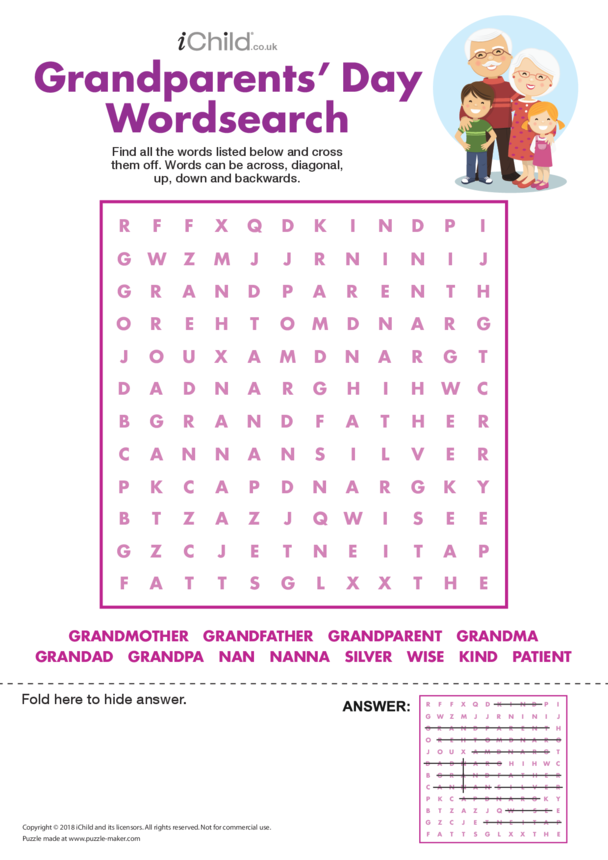 Grandparents' Day Wordsearch