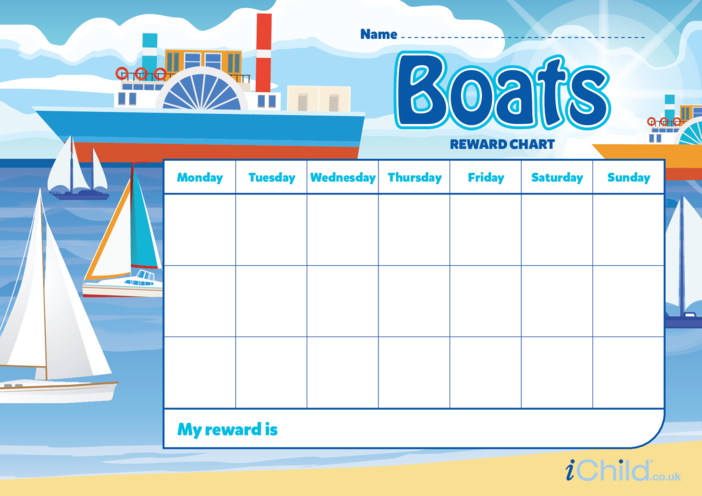 Thumbnail image for the Boat Reward Chart activity.