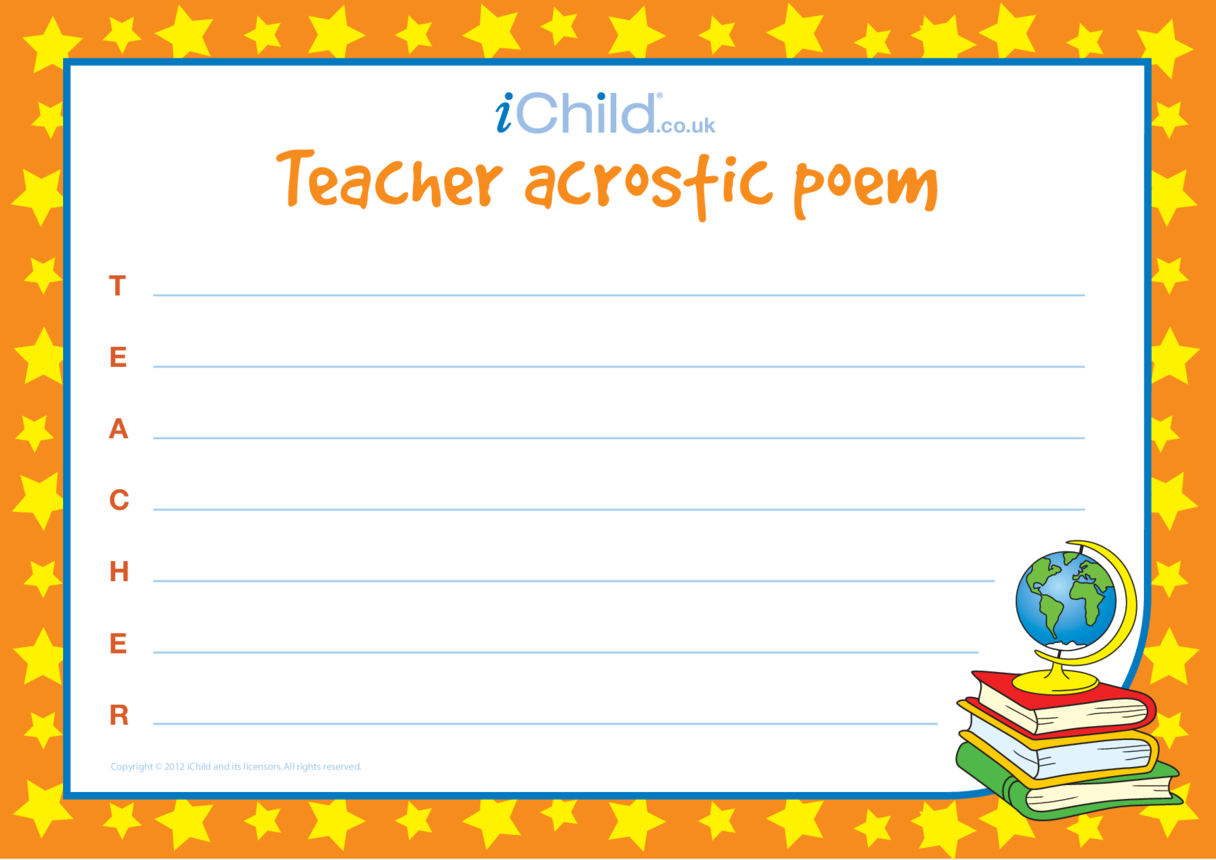 Teacher Acrostic Poem