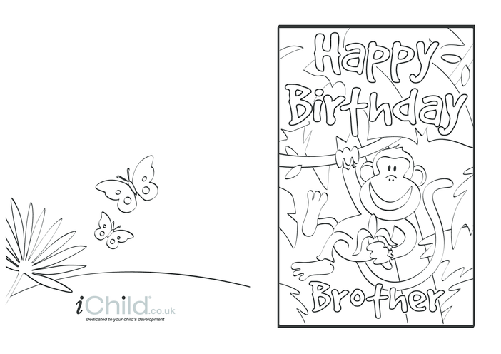 Thumbnail image for the Birthday Card design - Happy Birthday Brother! activity.