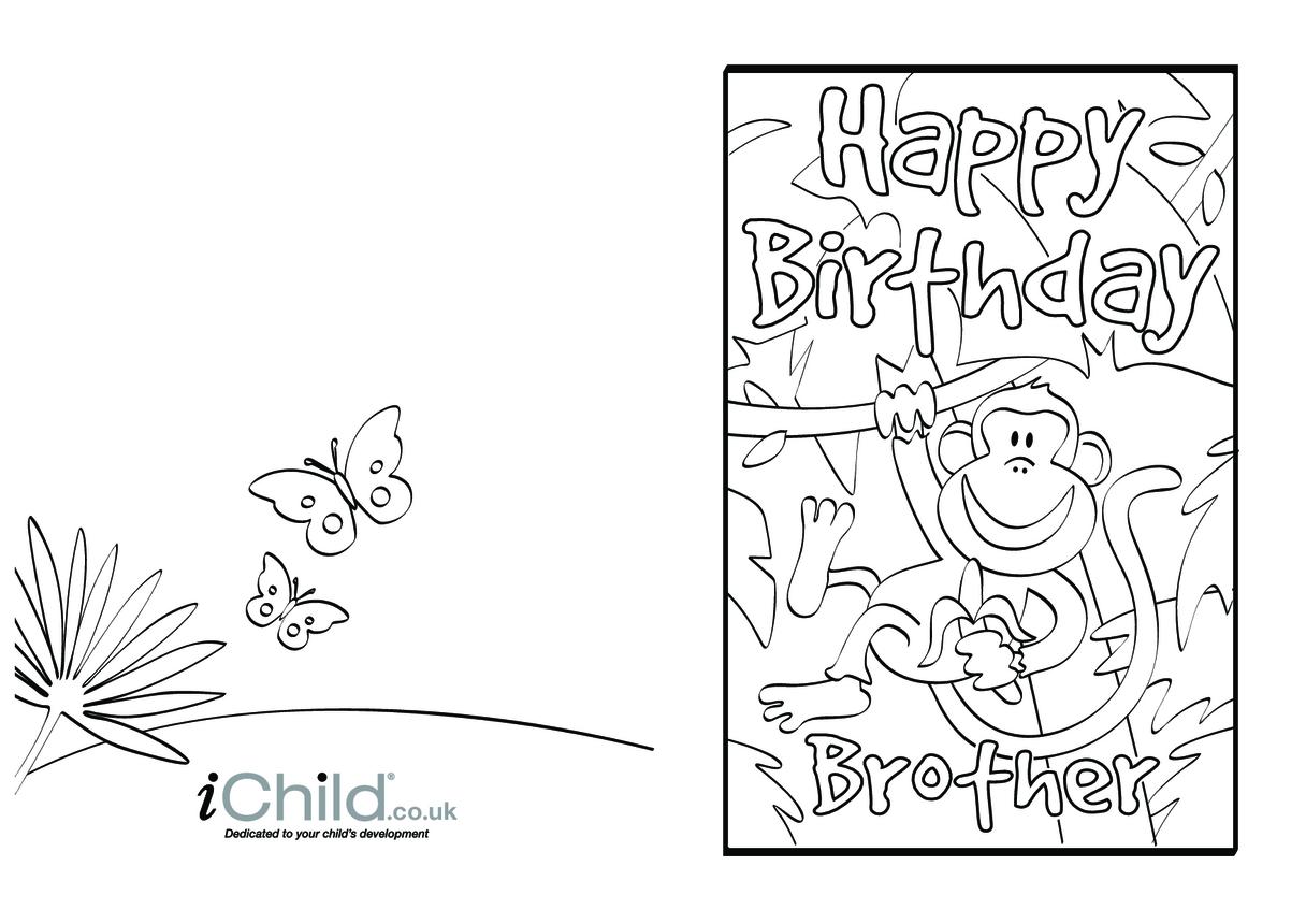 Birthday Card design - Happy Birthday Brother!
