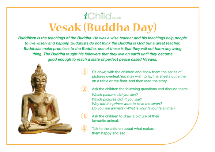 Thumbnail image for the Vesak Religious Festival Story activity.