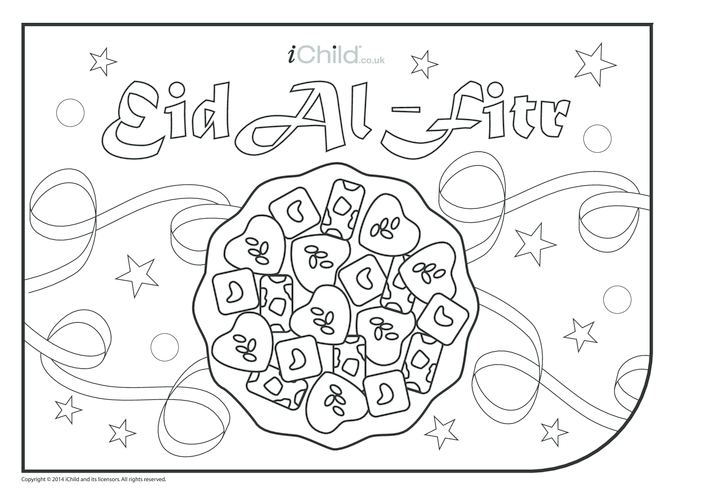 Thumbnail image for the Eid al-Fitr Colouring in Picture activity.