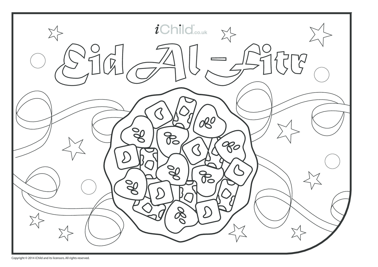 Eid al-Fitr Colouring in Picture