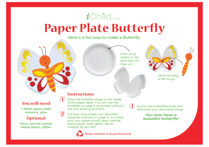 Thumbnail image for the Butterfly Paper Plate Craft activity.