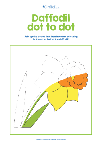Thumbnail image for the Dot to Dot Daffodil activity.