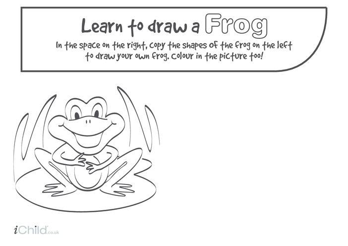 Thumbnail image for the Learn to Draw a Frog activity.