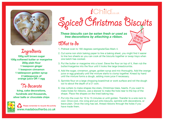 Thumbnail image for the Spiced Christmas Biscuits activity.