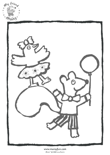 Thumbnail image for the Maisy Party Kit: Colouring in Picture, Birthday Balloon activity.