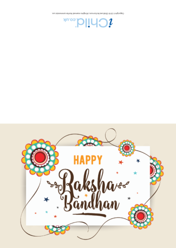 Thumbnail image for the Happy Raksha Bandhan Card activity.