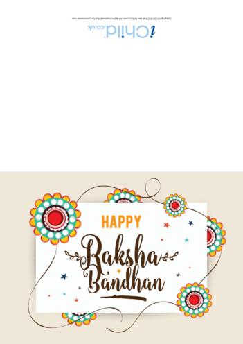 Thumbnail image for the Happy Raksha Bandhan Card activity.
