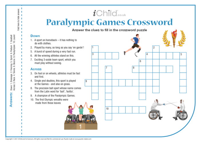 Thumbnail image for the Paralympic Games Crossword activity.