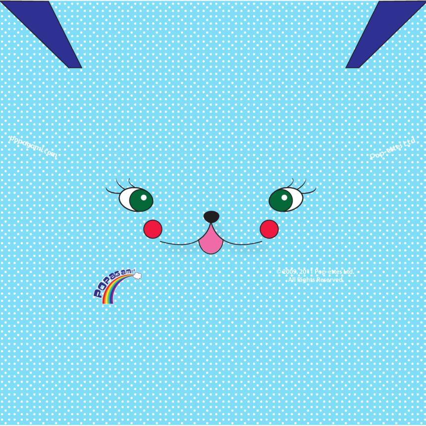 Origami/Popagami Blue Character