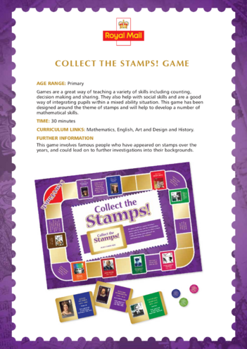 Thumbnail image for the 2013_Primary 5) Collect the Stamps! Lesson Plan activity.