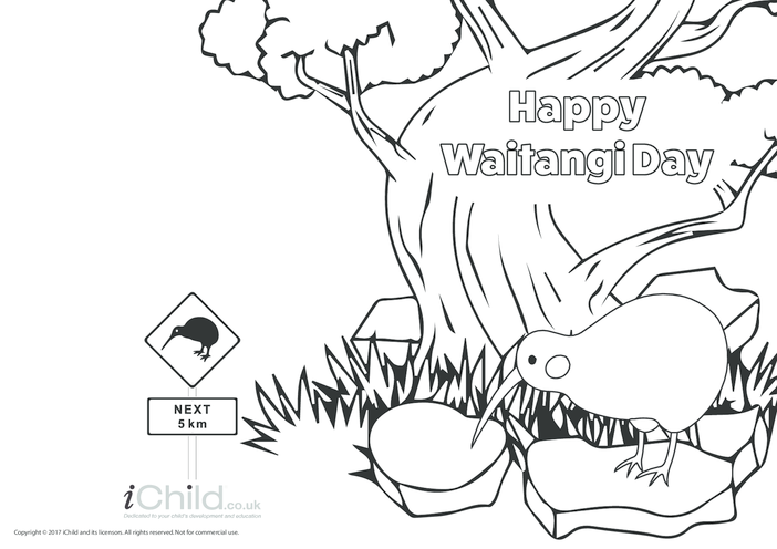 Thumbnail image for the Happy Waitangi Day Card activity.