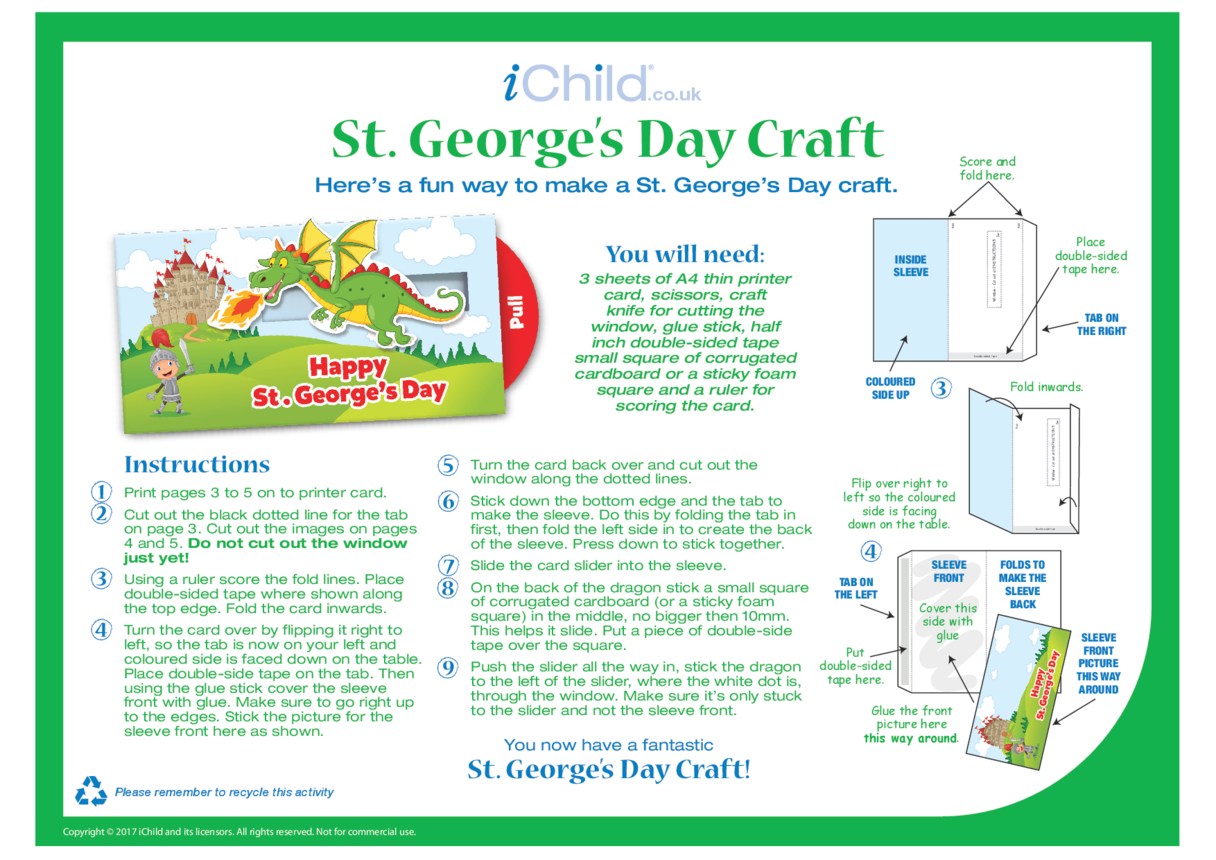 St. George's Day Card Craft