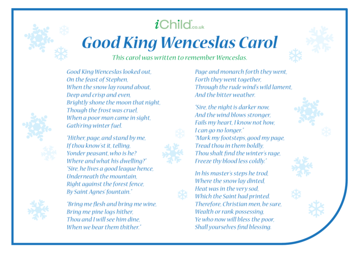 Thumbnail image for the Good King Wenceslas Carol activity.