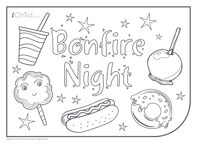 Thumbnail image for the Bonfire Night Placemat activity.