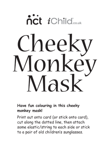 Thumbnail image for the Cheeky Monkey Face Mask activity.