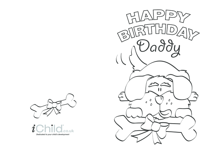 Thumbnail image for the Birthday Card design - Happy Birthday Daddy! activity.