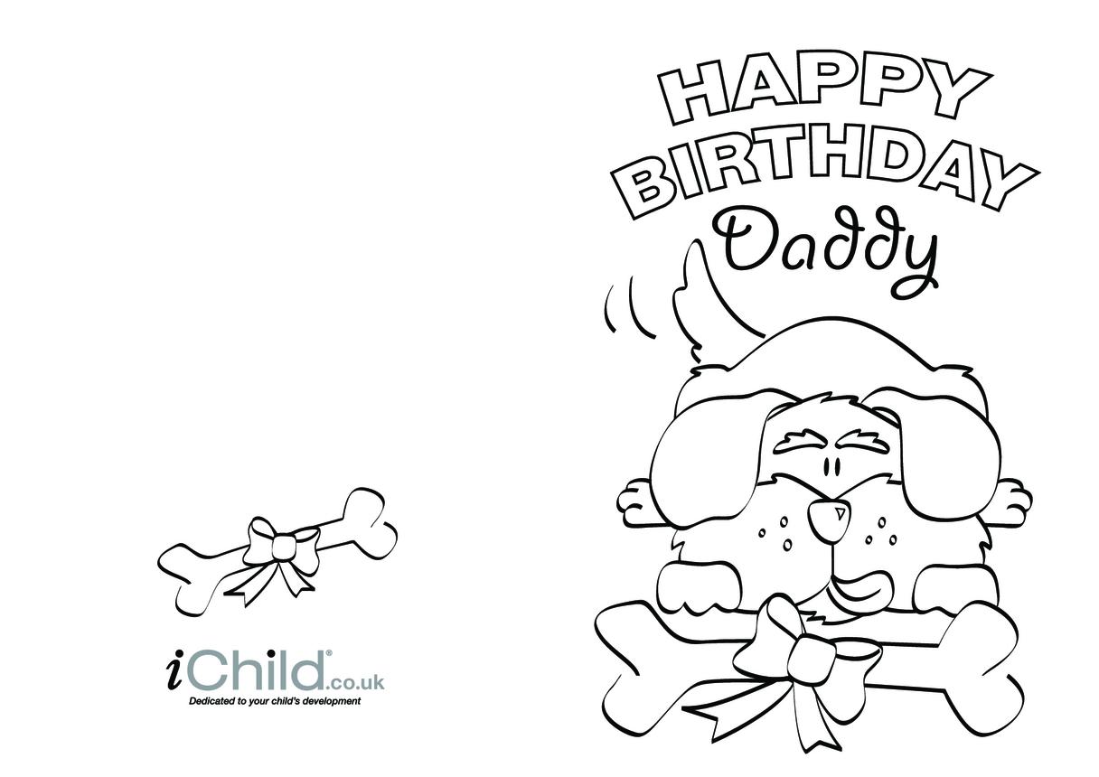 Birthday Card design - Happy Birthday Daddy!