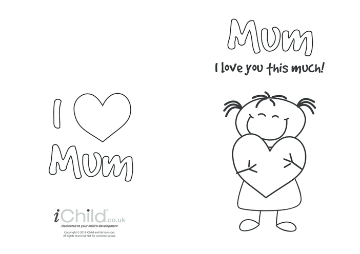 Thumbnail image for the Mother's Day Card - I Love Mum This Much! (picture 1) activity.