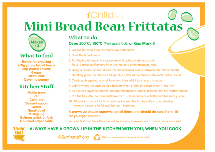 Thumbnail image for the Frittatas activity.